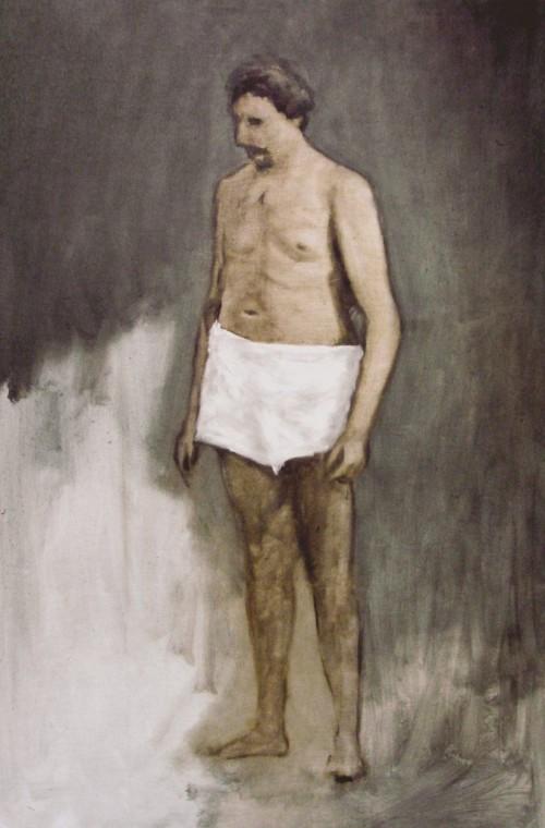 »Weiße Hose«, 2004<br />oil paint on canvas, 120 x 80 cm<br />