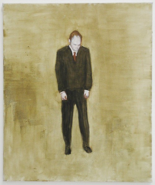 <i>Mann gebeugt</i>, 2003<br />oil paint on canvas, 60 x 50 cm<br />
