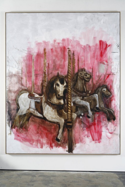 »Merry-go-round«, 2009<br />oil paint on canvas, 312 x 251 cm<br />