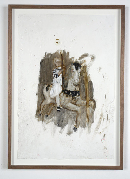 <i>o.T.</i>, 2009<br />oil paint on paper, 60 x 40 cm<br />