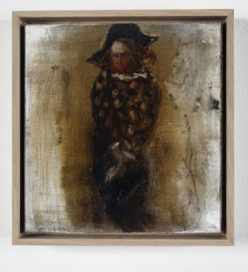 »Harlekin«, 2009<br />oil paint on canvas, 20 x 19 cm<br />