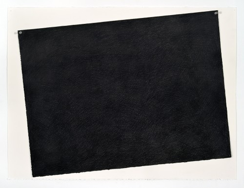 »Paper (black)«, 2018<br />pencil on paper, 55.88 x 76.2 cm<br />