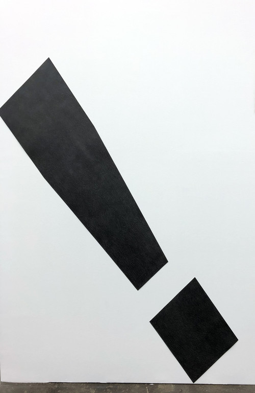 <i>Exclamation Point (sans-serif)</i>, 2018<br />pencil on cut paper, 179 x 38 cm<br />