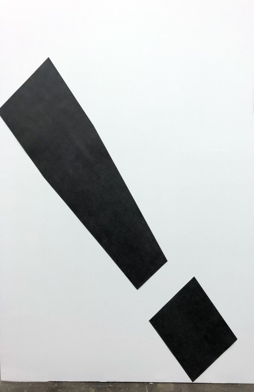»Exclamation Point (sans-serif)«, 2018<br />pencil on cut paper, 179 x 38 cm<br />