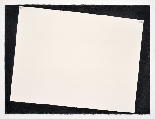 »Paper (white)«, 2018<br />pencil on paper, 55.88 x 76.2 cm<br />