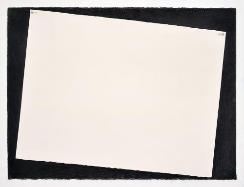 »Paper (white)«, 2018<br />pencil on paper, 55.88 x 76.2 cm<br />