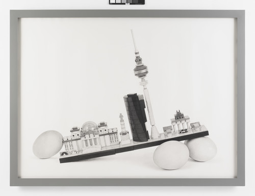 <i>Still Life Cityscape (Berlin Eggs)</i>, 2017<br />pencil on paper, 130.81 x 177.8 cm<br />
