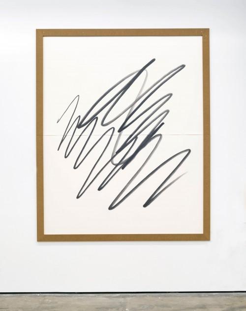 »Big Scribble #6 (squat)«, 2018<br />pencil on paper, 261.62 x 210.82 cm<br />