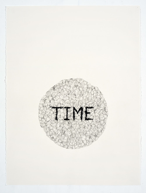 <i>Time (in a Ricecake)</i>, 2018<br />pencil on paper, 76.2 x 55.88 cm<br />