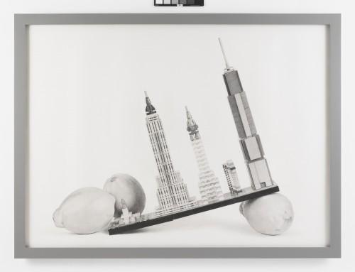 »Still Life Cityscape (New York Lemons)«, 2017<br />pencil on paper, 130.81 x 177.8 cm<br />