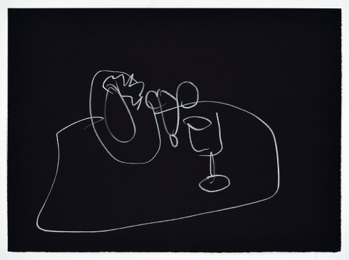 »Pictogram 1«, 2018<br />pencil and pastel on paper<br />