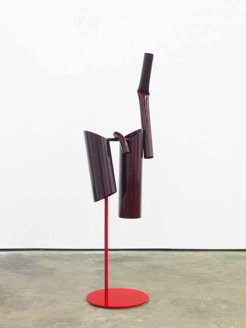 »Body language: Male, standing«, 2012<br />powder coated steel, 158 x 0 Ø 50 cm<br />