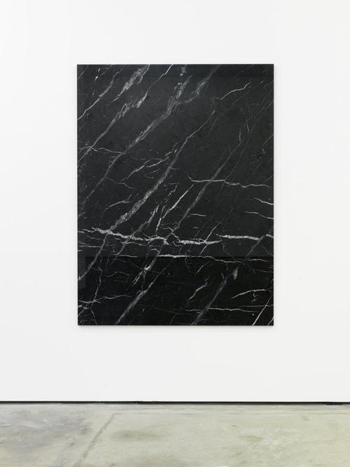 <i>Von den Steinen zu den Sternen</i>, 2011<br />black marble, 174 x 128 cm<br />