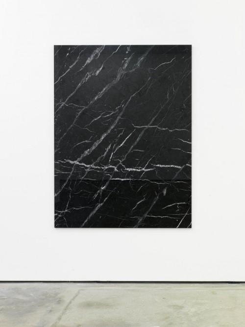 »Von den Steinen zu den Sternen«, 2011<br />black marble, 174 x 128 cm<br />
