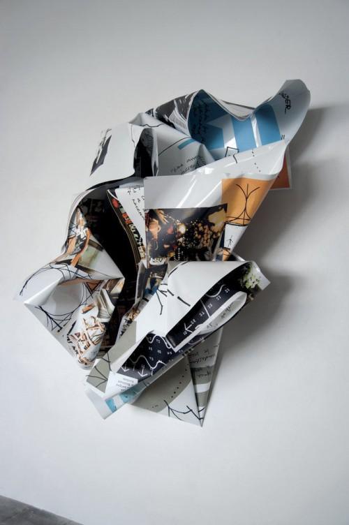 »Yona Friedman«, 2011<br />Digital print on aluminum<br />