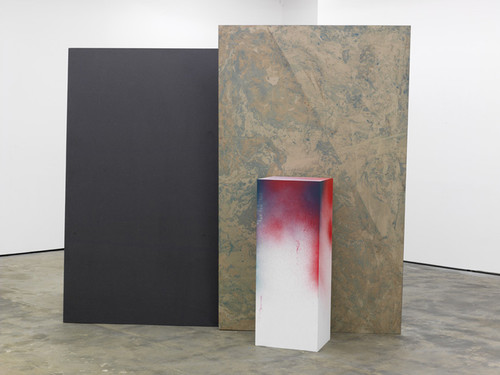 <i>Hole in the Wall II</i>, 2010<br />oil paint on paper, aluminium, wood, paint, 232 x 310 x 150 cm<br />