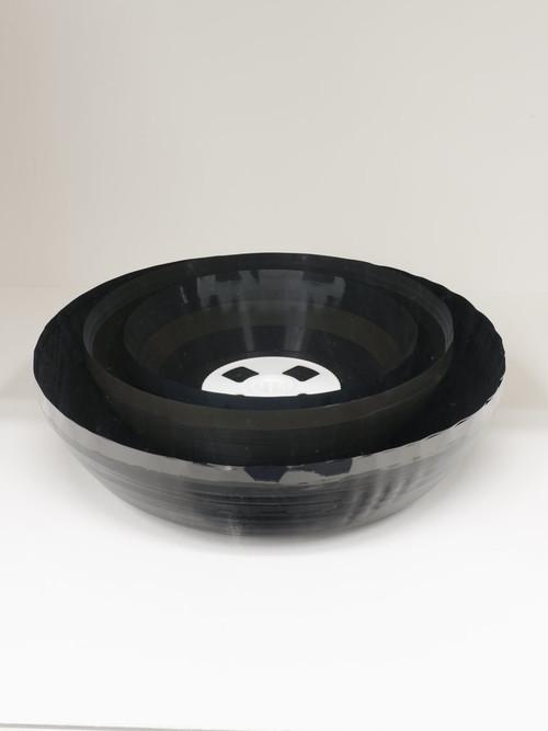 <i>Matroschkische Schalen</i>, 2013<br />video tape and wheel, 11 x Ø 29 cm<br />