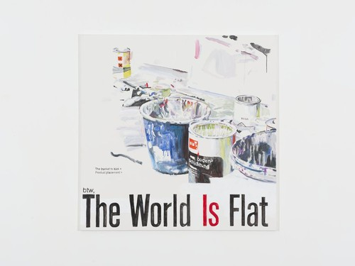 »The World is Flat«, 2013<br />acrylic on canvas, 140 x 140 cm<br />