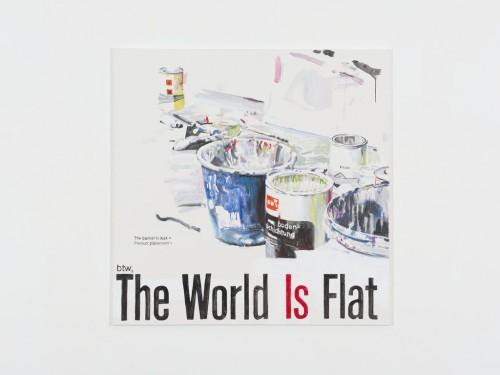»The World is Flat«, 2013<br />acrylic on canvas, 140 x 140 cm<br />