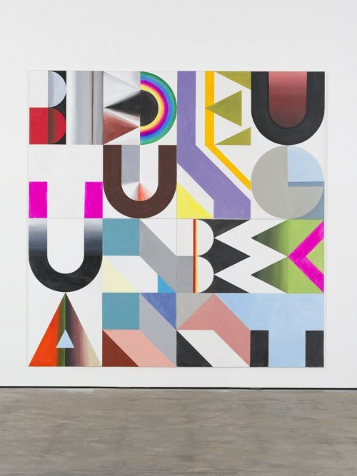 »Bedeutung unbekannt«, 2013<br />acrylic on canvas, 280 x 280 cm<br />