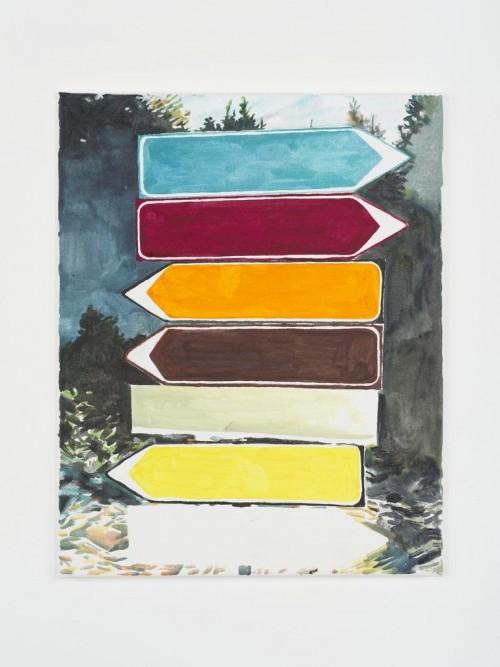 »Trap«, 2013<br />Aquarell on canvas, 50 x 40 cm<br />