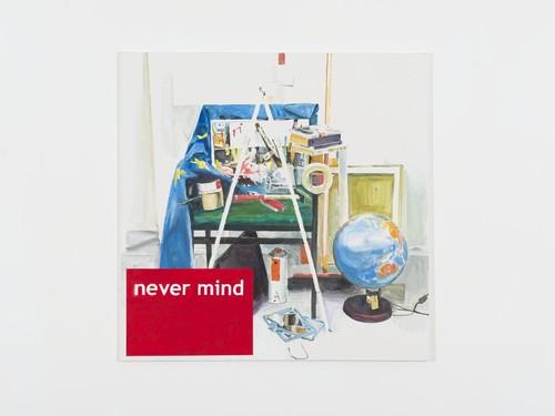 <i>Never Mind</i>, 2013<br />acrylic on canvas, 140 x 140 cm<br />