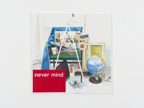 »Never Mind«, 2013<br />acrylic on canvas, 140 x 140 cm<br />