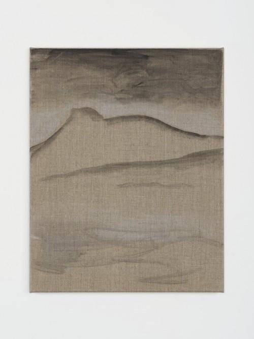 »Earth«, 2013<br />Aquarell on canvas, 50 x 40 cm<br />