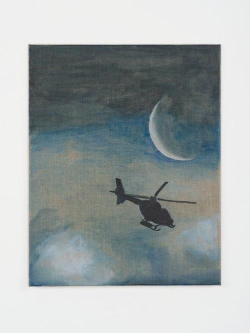»Aid«, 2013<br />Aquarell on canvas, 50 x 40 cm<br />
