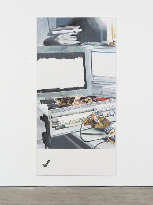 »✓«, 2013<br />acrylic on canvas, 280 x 140 cm<br />