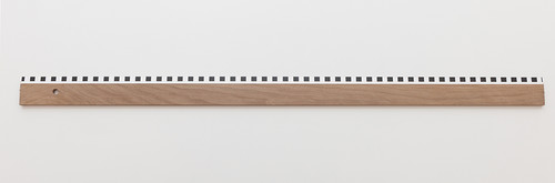 <i>Ruler Day and Night (Start 14 September)</i>, 2014<br />wood, plexi, paint, 0,8 x 100 x 5 cm<br />