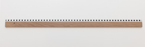 »Ruler Day and Night (Start 14 September)«, 2014<br />wood, plexi, paint, 0,8 x 100 x 5 cm<br />