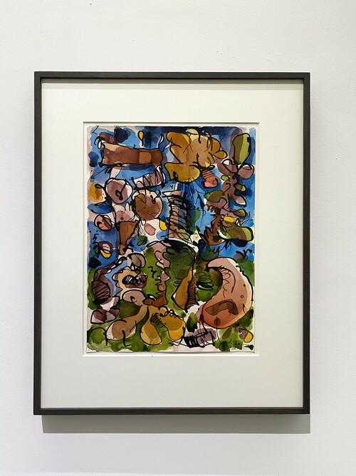 <i>Untitled (Mantis Mannequin 2)</i>, 2020<br />watercolour ink on paper, 55 x 47 cm (framed)<br />