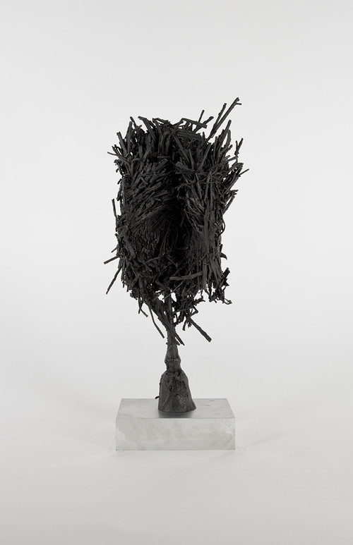 DAVID RENGGLI<br />»Untitled«, 2016<br />patinated bronze cast, 56,5 x 22 x 18,5 cm<br />