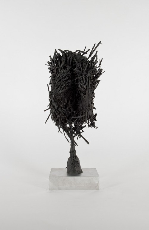 DAVID RENGGLI<br />»Untitled«, 2016<br />patinated bronze cast, 56,5 x 22 x 18,5 cm<br />