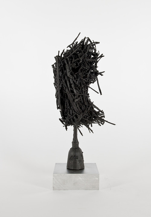 DAVID RENGGLI<br />»Untitled«, 2016<br />patinated bronze cast, 55 x 20 x 19 cm<br />