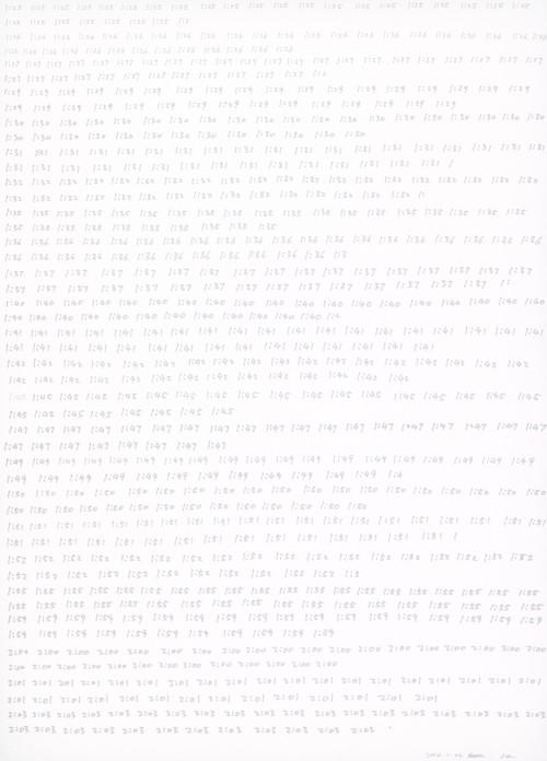 HE XIANGYU<br />»Time (1601233)«, 2016<br />Acid-free oil-based marker on paper, 102 x 73 cm<br />