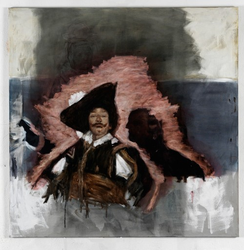 »Musketiere«, 2011<br />oil paint on canvas, 155 x 155 cm<br />