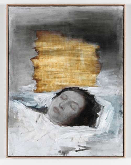 »Liegende«, 2011<br />oil paint on canvas, 105 x 80 cm<br />