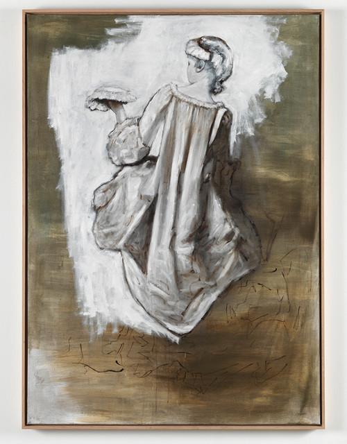 <i>Rückenansicht einer jungen Frau</i>, 2011<br />oil paint on canvas, 155 x 110 cm<br />