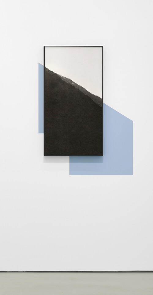 <i>Silhouette 2</i>, 2019<br />Pigment print, framed (the blue wall paint is optional), 90 x 48 cm<br />Edition 2/4 + 2 AP