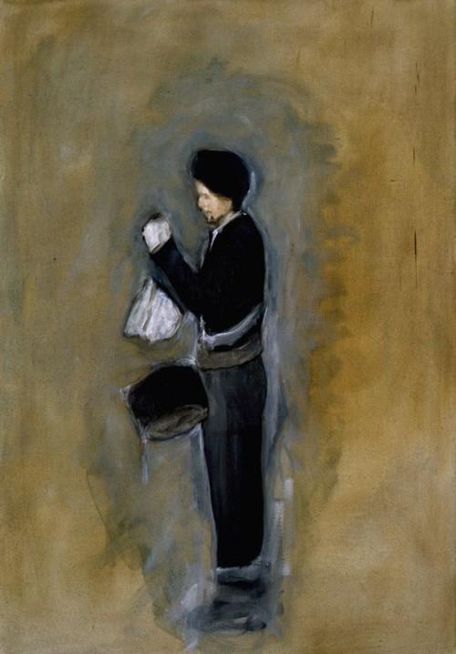 <i>Trommler</i>, 2006<br />oil paint on canvas, 112 x 78 cm<br />