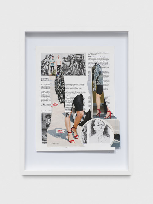»College Notes: Kardashian / Picasso«, 2017<br />collage made of magazine pages, 40 x 30 x 3.5 cm<br />