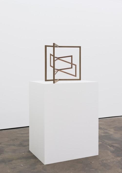 »Mutual I«, 2015<br />UV-digitalprint on glass, wood, 75 x 88 x 55 cm (without plinth)<br />