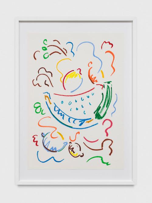 SOL CALERO<br /><i>Dibujo, 21</i>, 2017<br />oil pastel on paper, 60 x 42 cm<br />