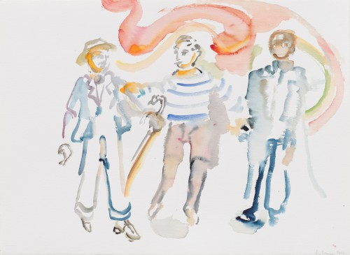 SOPHIE VON HELLERMANN<br />»Proust«, 2017<br />watercolor on paper, 56 x 76 cm<br />