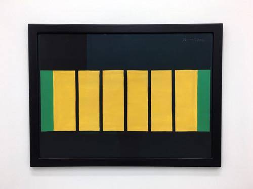 GÜNTHER FÖRG<br /><i>o.T.</i>, 2001<br />gouache on paper, 59 x 78 x 2 cm (framed)<br />