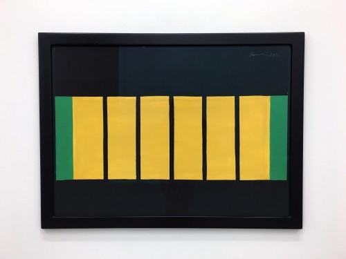 GÜNTHER FÖRG<br />»o.T.«, 2001<br />gouache on paper, 59 x 78 x 2 cm (framed)<br />