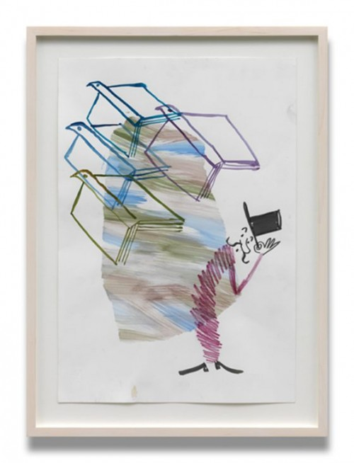 AMELIE VON WULFFEN<br />»Untitled«, 2010<br />watercolor on paper, 42 x 31 cm<br />