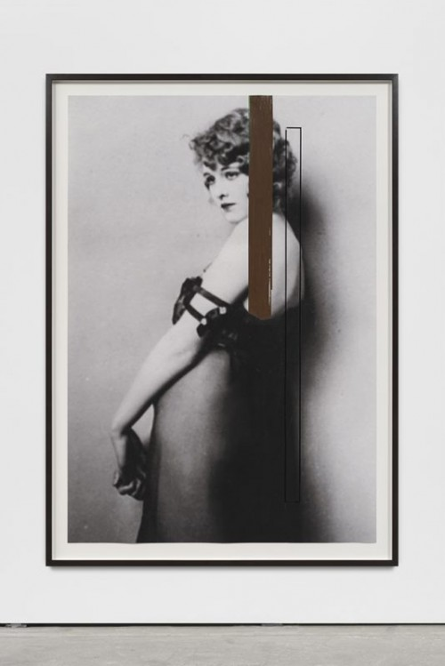 GREGOR HILDEBRANDT<br />»Deine Hand sie ist so eisig«, 2018<br />cassette tape, ink jet print, 162 x 114 x 4 cm (framed)<br />